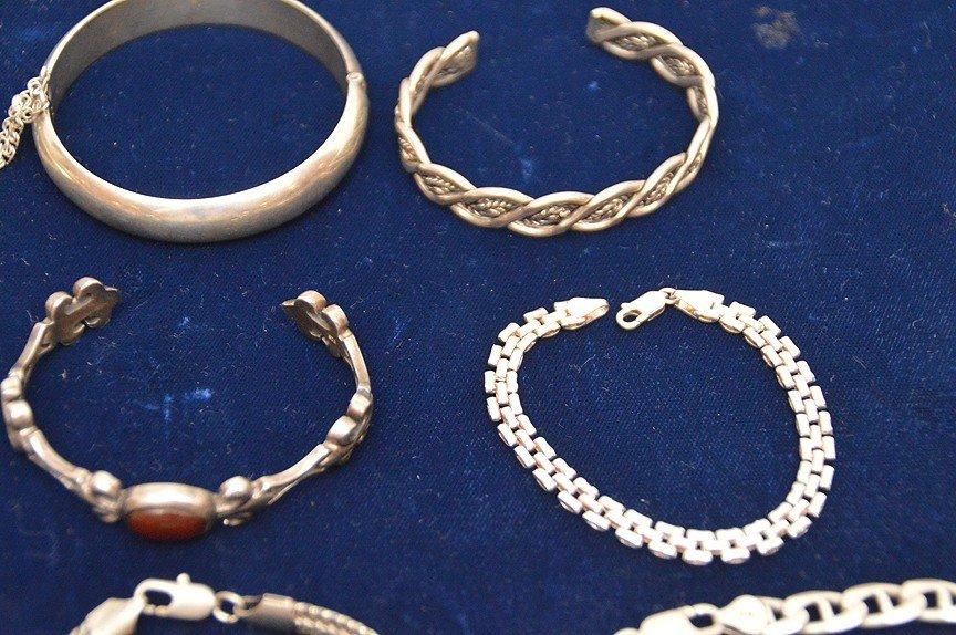 (10) assorted sterling bracelets - 3
