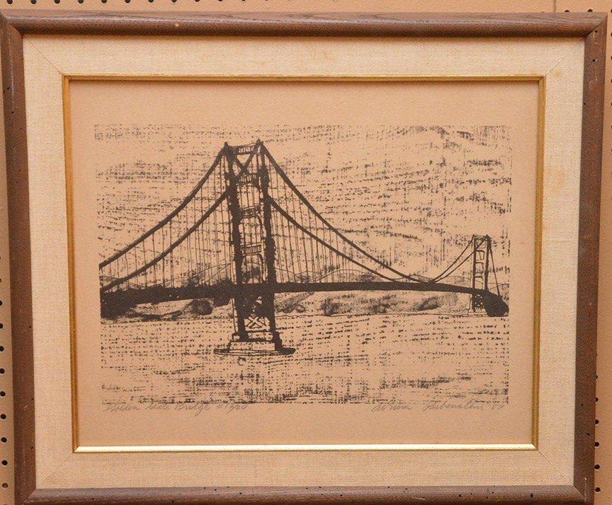 """RUBENSTEIN, California 20th Century, """"Golden Gate"""