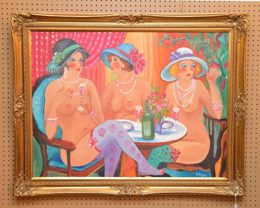 Hilda Gleizer Rindom  (American 20th century) oil