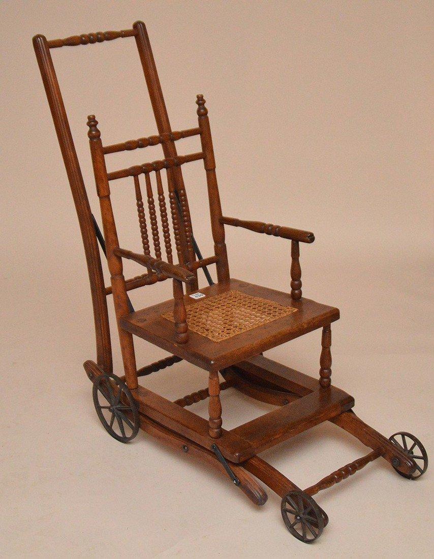 """Oak high chair, 19th c, 39 1/2""""h x 13 1/2""""w x 15""""d"""