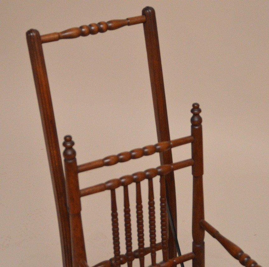 """Oak high chair, 19th c, 39 1/2""""h x 13 1/2""""w x 15""""d - 3"""
