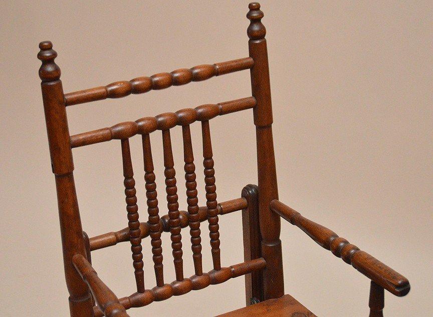 """Oak high chair, 19th c, 39 1/2""""h x 13 1/2""""w x 15""""d - 5"""