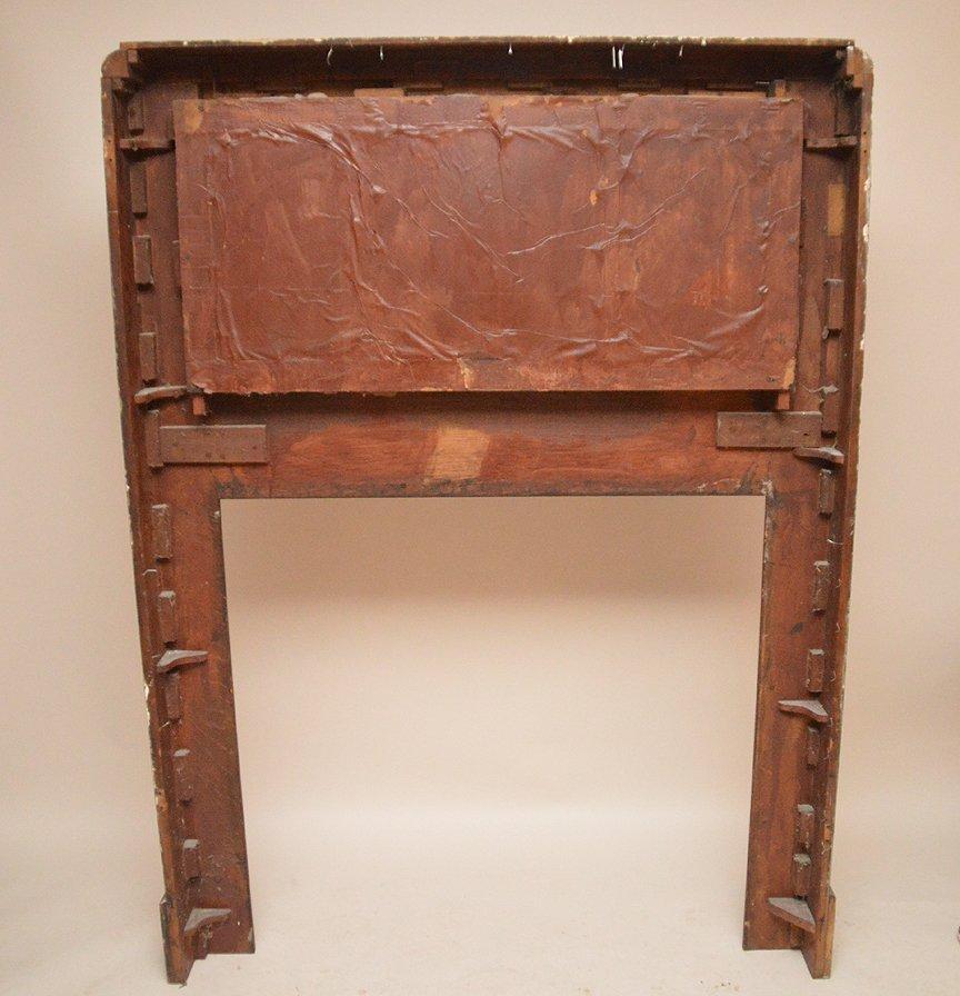"Antique oak fireplace mantle, 72""h x 53""w - 3"