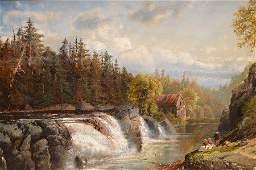"EDMUND DARCH LEWIS, American 1835-1910, ""Hudson River"