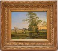 Ildephonse Stocquart (Belgian 1819 - 1889) oil painting