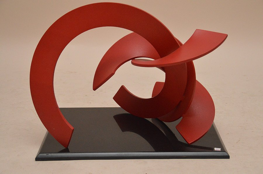 Obie Simonis Red Modern Iron Sculpture