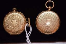 Antique 18K Yellow Gold Ladies Pocket Watches  1