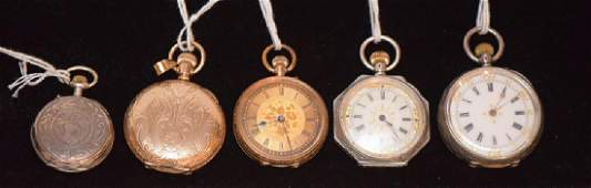 Ladies Pocket Watches  1 Elgin Gold Filled with