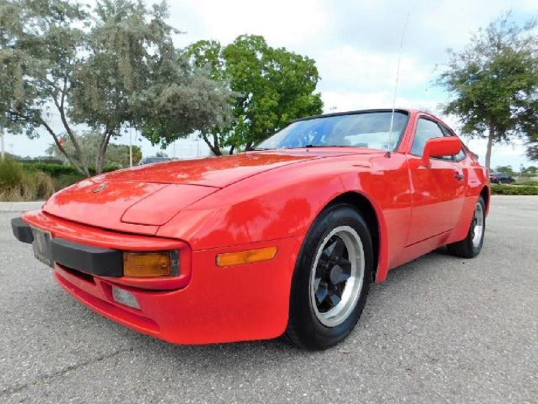1983 Porsche 944, red 2 door hatchback, 5 speed