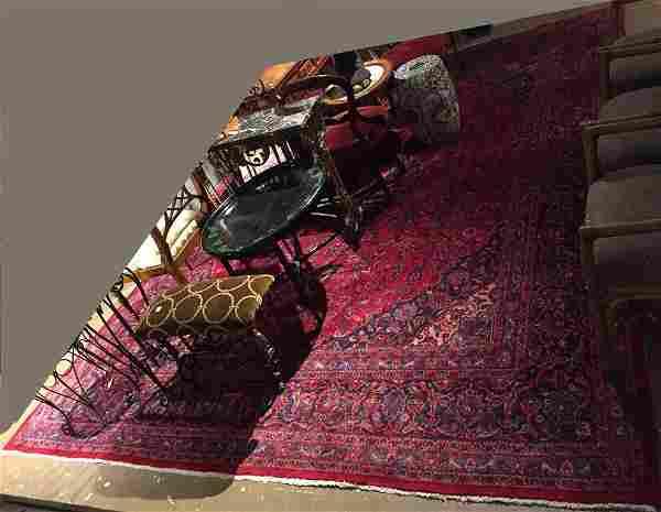 "Large Persian rug, 13.1' x 9'7"""