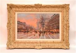 Paul Renard (French/Dutch, b. 1928), Paris street scene