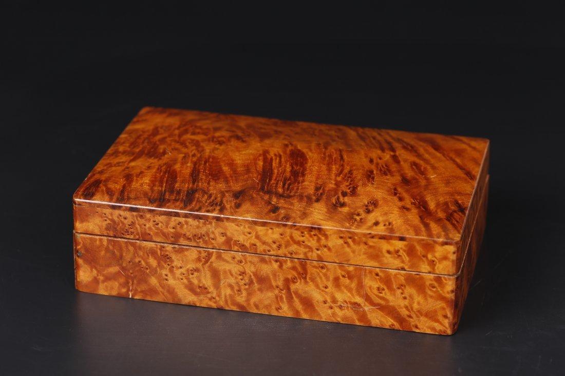 A burl wood Rectangular Box