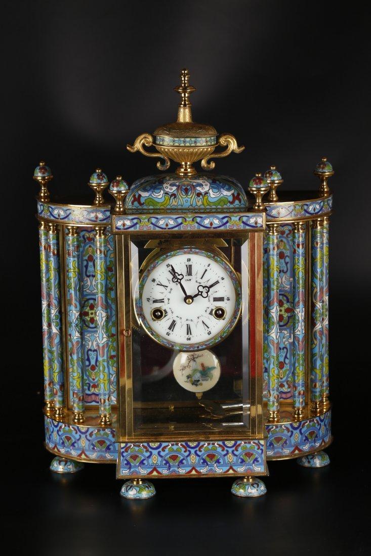 An Antique Cloisonne Display Clock