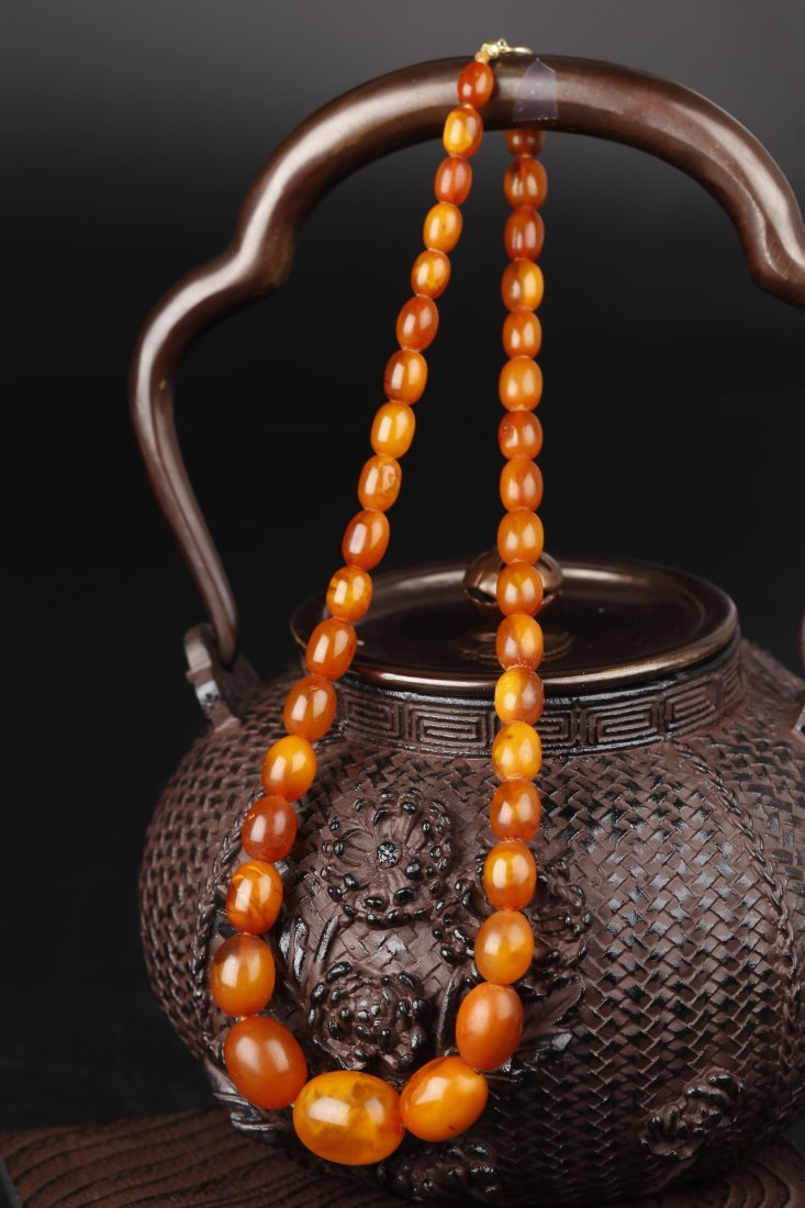 A Natural Baltic Amber Necklace