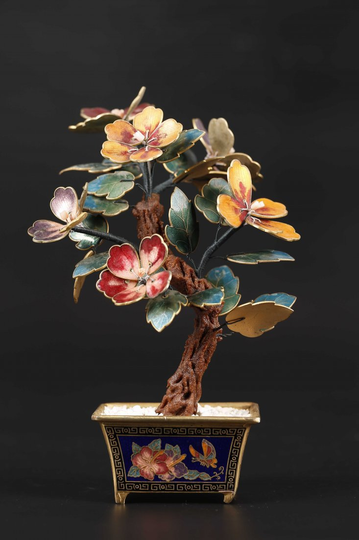 Cloisonne Bonsai Decorative Piece.