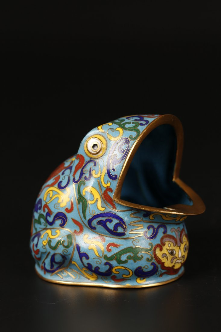 Cloisonne Frog Shaped Water Container.