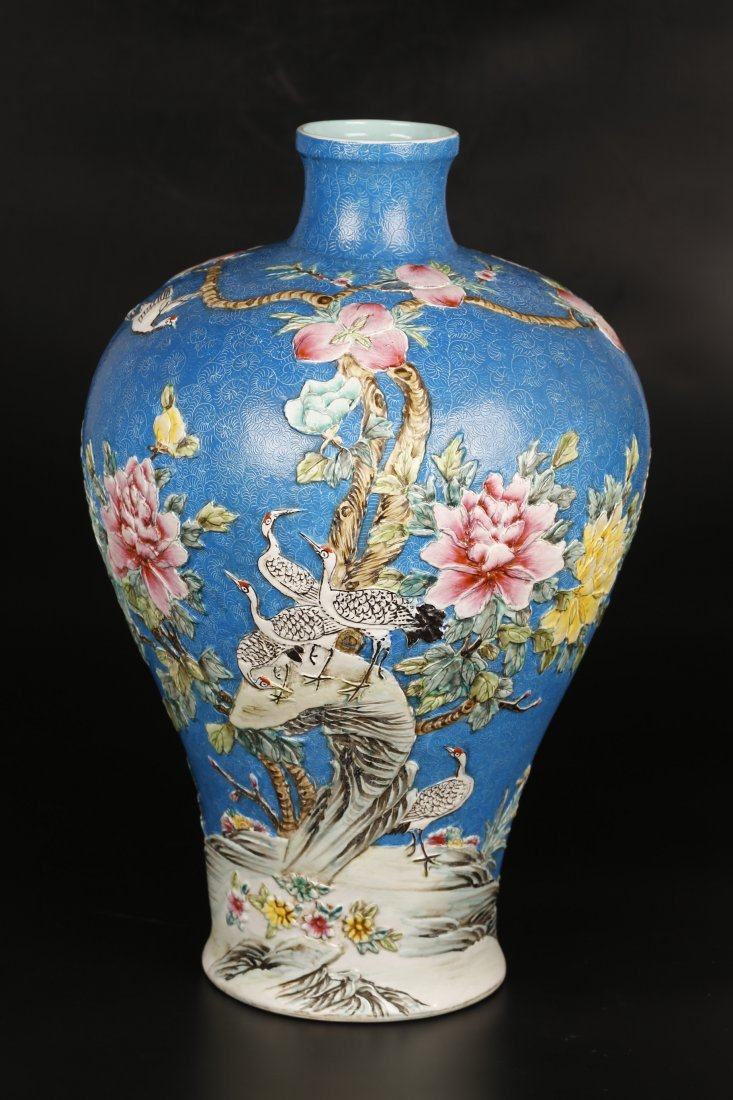 A Turquoise Colored Porcelain Vase.