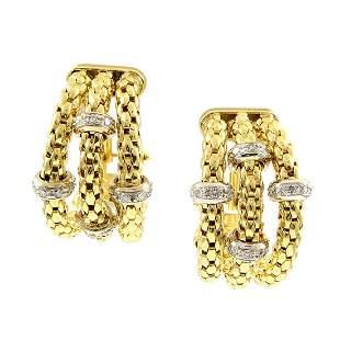 Italian Diamond 18K Gold Earrings