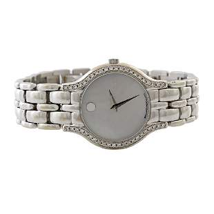 Movado Diamond Mother of Pearl 18K Gold Watch