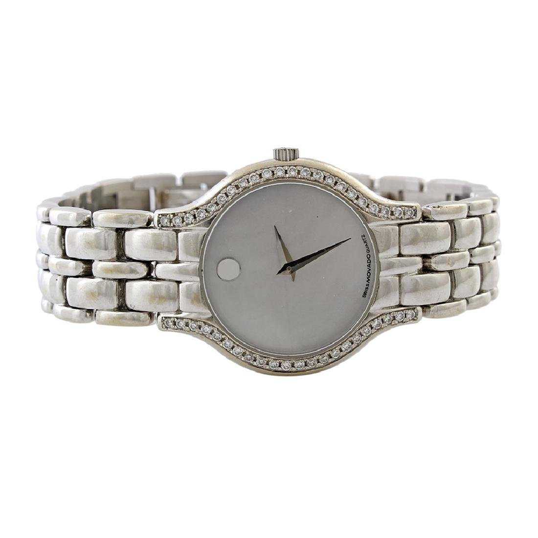 Movado Diamond & Mother of Pearl 18K Gold Watch