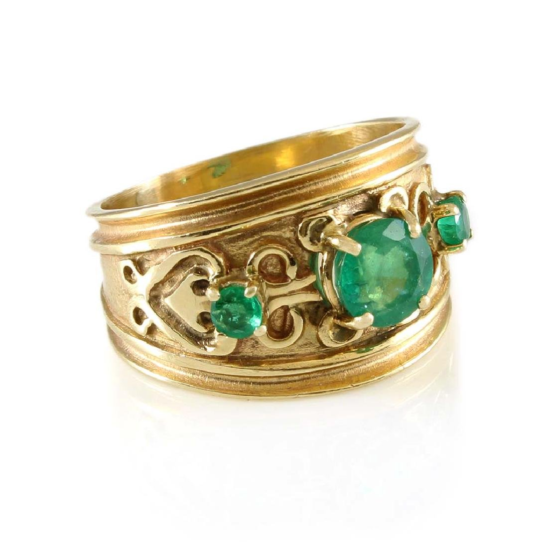 Emerald 14K Yellow Gold Ring