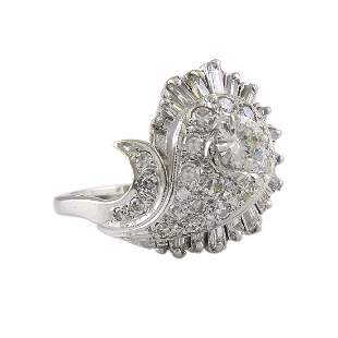 Mixed Cut Diamond 14K White Gold Ring