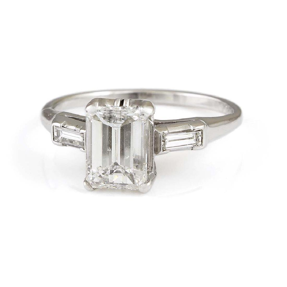 Diamond Platinum Three Stone Ring