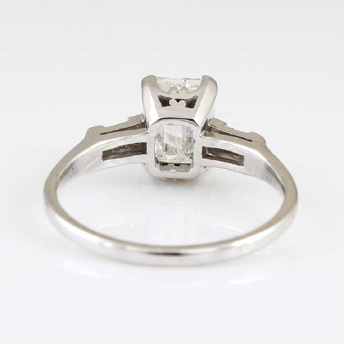 Diamond Platinum Three Stone Ring - 3