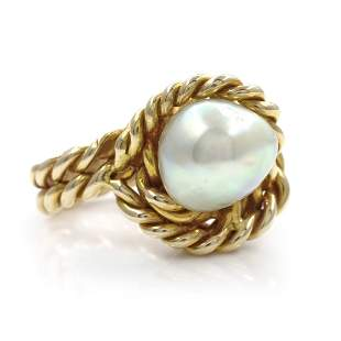 Gold Fresh Water Pearl Ring