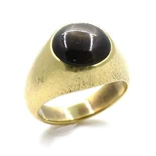 Gubelin 18k Gold Tiger Eye Ring