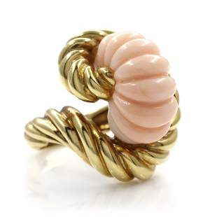 Coral 14k Gold Ring