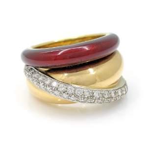 Nouvelle Bague 18k Multi Gold Ring