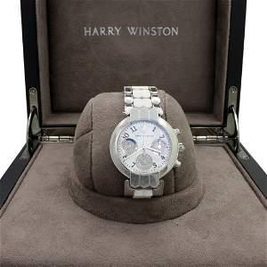 Harry Winston 18 K Gold Diamond Watch