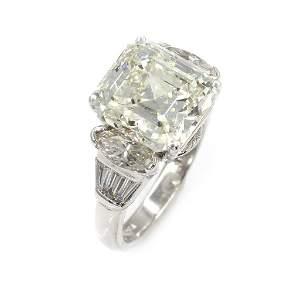6.24ct Emerald Cut Diamond Ring