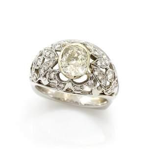 Antique 18k Gold, Diamond Ring