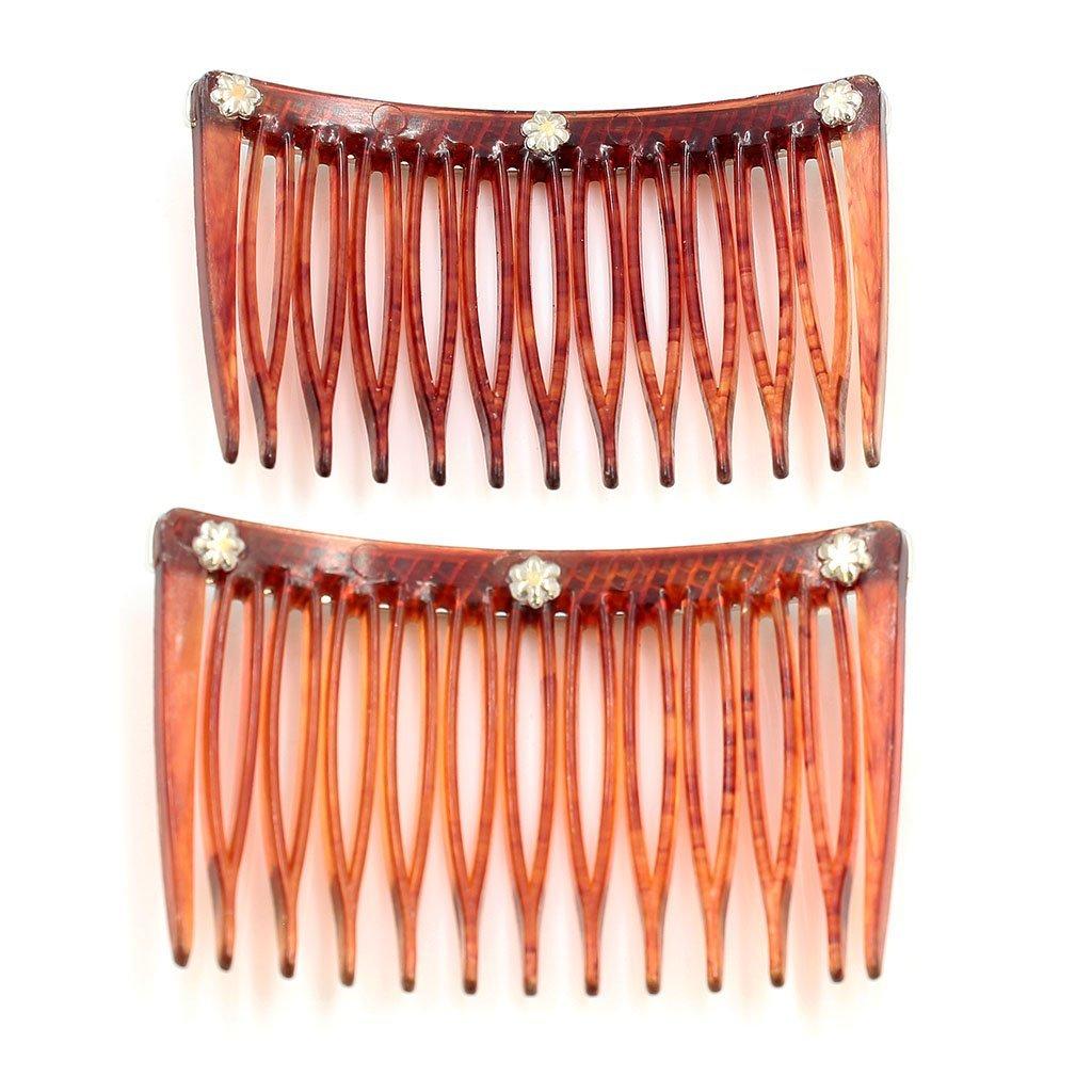 Pair of Antique Diamond & Sapphire Hair Comb - 2
