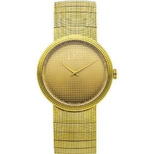 "Christian Dior Lady's Gold ""La D de Dior"" Watch"