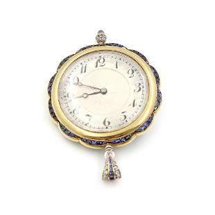 Callibre Sapphire Diamond Pocket Watch