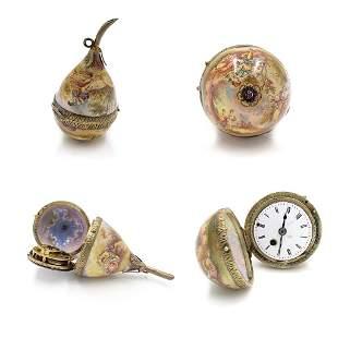 Rare Viennese Verge Enamel Pocket Watch