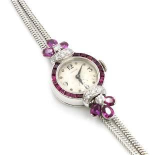 Oscar Heyman for Hamilton Ruby Diamond Watch