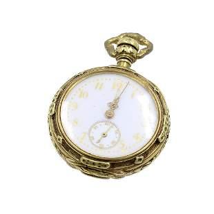 Art Nouveau 18k Gold Pocket Watch