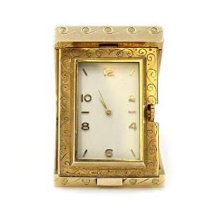 Asprey Gold Travel Clock