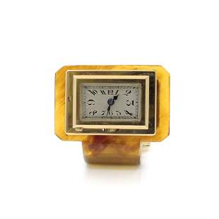 Tortoise Shell Gold Clip Watch, French