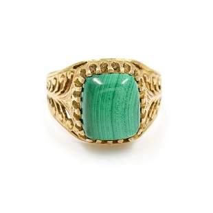 Malachite Victorian Ring
