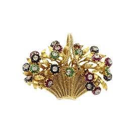 Tiffany & Co. En Tremblant Gem Set 18k Gold Flower