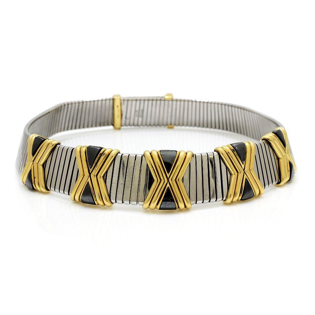 Bvlgari 18k Gold Collar Necklace