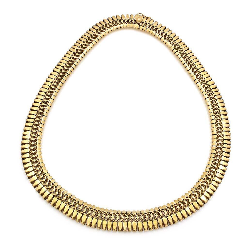 18k Yellow Gold Cleopatra Style Necklace