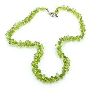 Green Peridot Briolette Necklace