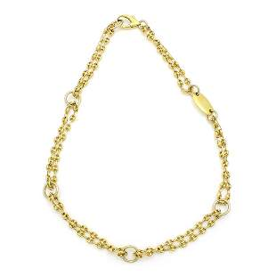 2-Strand 18k Yellow Gold Chain Necklace