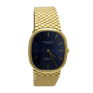 Patek Philippe 18k Solid Gold Quartz Men's Watch, Swiss